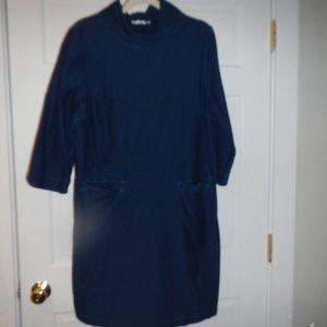 Boden UK Blue Stretch Denim Dress US Size 16
